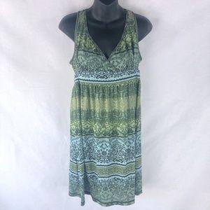 MUDD Boho V-Neck Chiffon Midi Dress Size Large